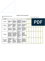 Rubric for Oral Conversation Sample