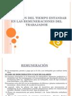 APLICACIÓN DEL TIEMPO ESTANDAR EN LAS REMUNERACIONES DEL