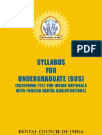Bds Syllabus