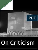 Jeffrey Kipnis. on Criticism