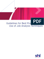 Job Analysis - Best Practice