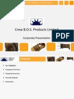 CrewBOS - Corporate Presentation 2011