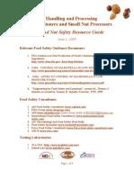 Nut Handling Food Safety Resource Guide - June 1 2009