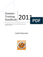 Summer Training Handbook