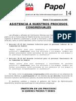 Papel 14. cia Congreso