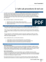 Chapter 2 - Safe Procedures & Tool Use