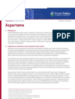 Ireland Aspartame Factsheet