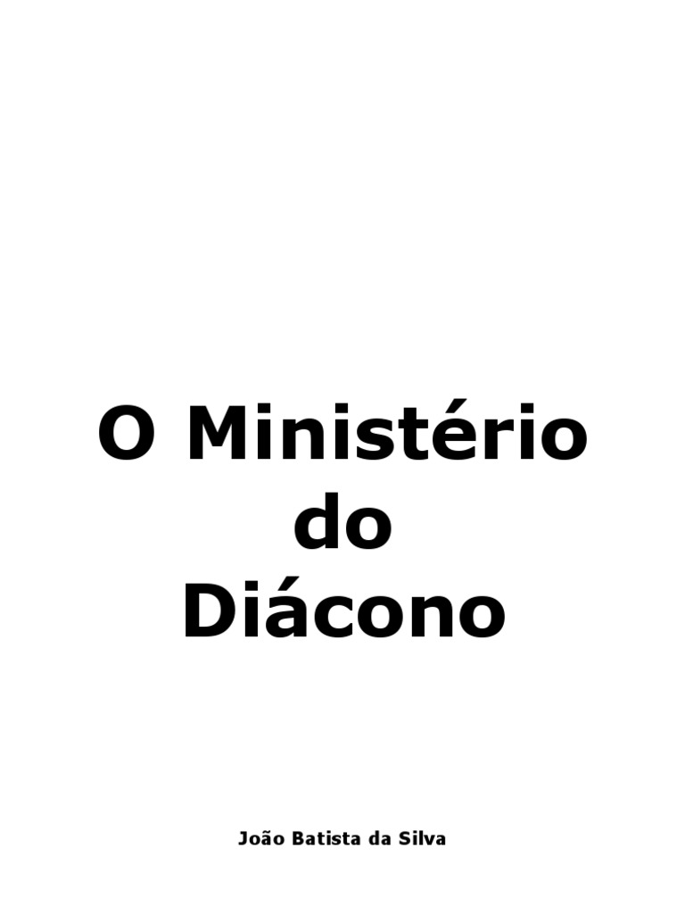 Manual Do Diacono