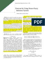 Stock Price Forecasting Using Neuro Fuzzy