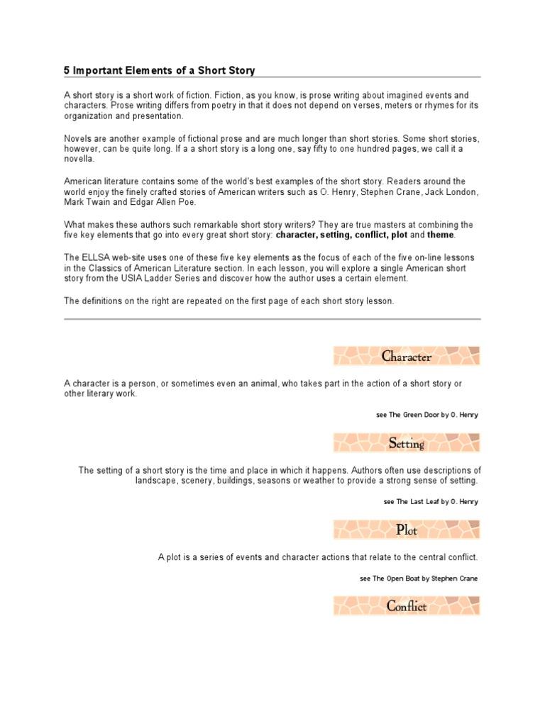 Elements Of A Short Story Narration Short Stories