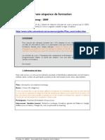 Descriptif d'une séquence de formation en ligne