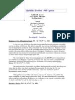 42 U.S. Code §1983 – 2003 Updates