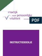 Praktijk voor persoonlijke vitaliteit - VP3 instructieboekje