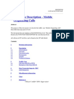 Traffic Case Description - Mobile Originating Calls