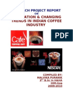 Evaluation & Changin Trends in Indian Coffee Industry Final
