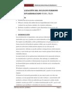 Cristalización Sulfato ferroso