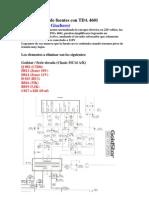 Simplificación de fuentes con TDA 4601