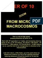 Earth and Universe Macro to Micro Distance
