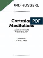 Husserl - Cartesian Meditations