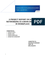 A Project Report on Social Networking is a Boon or a Bane in Workplace