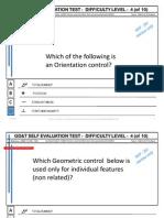 GD&T Selft Evaluation Test - Level 4