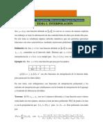 Unidad IV Tema 1 Interpolacion