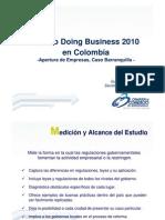 Estudio Doing Business 2010 en Colombia