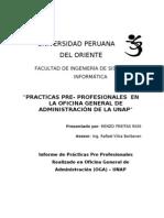 Presentación del Informe de Prácticas