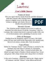 Cheeses Menu
