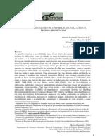 Análise de indicadores de acessibilidade - intinerarium
