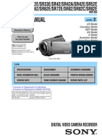 Sony DCR-SR62 Camcorder Service Manual