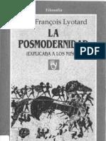 Jean-Francois Lyotard - La posmodernidad (explicada a los niños)