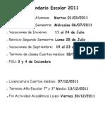 Calendario Escolar 2011