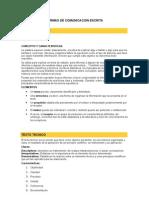 FORMAS DE COMUNICACION ESCRITA