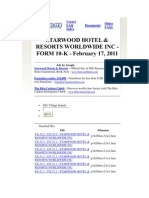 Starwood Hotels 10K feb 17/11 for S.E.C. We Accept this 10K for Value & Consideration UCC 8-105, UCC 8-505