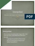 Metode Numerik - Interpolasi