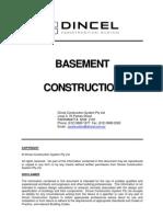 Dincel BasementConstruction