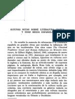 Algunas notas sobre literatura griega y edad media española