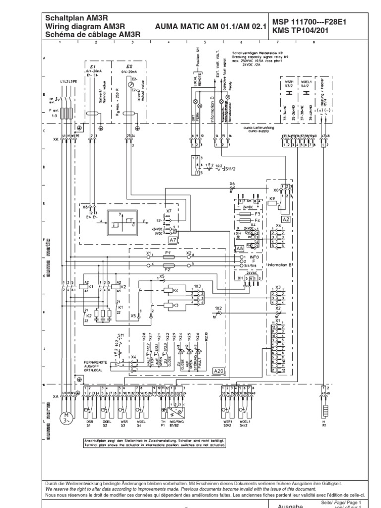 Auma Sg071 Actuator Wiring Diagram Trusted Diagrams Linear Wire Data Schema U2022 Valve Limit Switch
