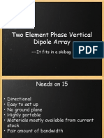 Two Element Phased Vertical Dipole Array Presentation See http://tinyurl.com/15meterVideo