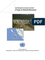 Mentawai Response Lessons Learned-Arwin Soelaksono
