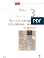 Sample design for educational survey research