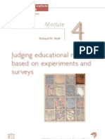 Judging educational research based on experiments and surveys