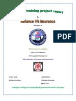 56345110 Reliance Life Insurence Projected by Sudhakar Chourasiya Maihar