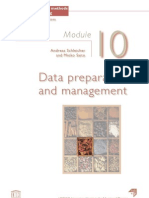 Data preparation and management