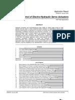DSP Control of Electro-Hydraulic Servo Actuators