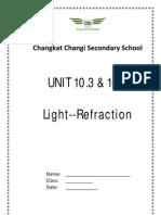 Unit 10.3 & 10.4 Light _Refraction