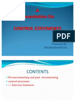 Lecture 7 Control Statements