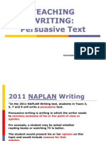 Teaching Writing Persuasive