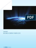 2011 Npower Business Energy Index Report